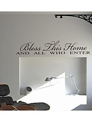 Bless This Home Decoration Quote Wall Decals ZY8091 Decorative Adesivo De Parede Removable Vinyl Wall Stickers