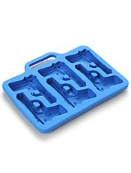 molde bandeja em forma de gelo arma criativo (cores aleatórias)