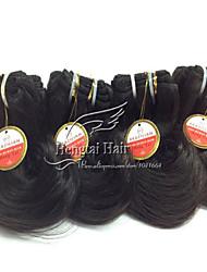 "1 Pcs Lot 8"" Brazilian Virgin Hair Natural Black Wave Brazilian Human Hair Extensions Bundles"