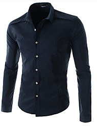 Dina Men's Long Sleeve Casual Shirts (Cotton)