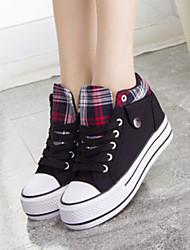 Scarpe Donna - Sneakers alla moda - Casual - Comoda / Punta arrotondata - Plateau - Di corda - Nero / Blu / Rosso