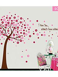 arbre fleur colorée pour le mur de la chambre des enfants autocollant décoratif zooyoo9026 autocollant amovible mur de pvc