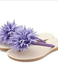 Women's Shoes Big Flower Flat Heel Flip Flops Beach Sandals/Slippers Casual More Colors available