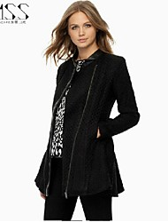 Women's Casual/Work Thick Long Sleeve Long Jackets (Polyester)