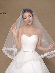 Wedding Veil One-tier Blusher Veils/Elbow Veils  Applique Edge