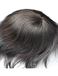 Full Swiss Lace Dark Brown 2# Mens Toupee 100% Premium Human Hair System Hair Replacement Base Size Adjustable