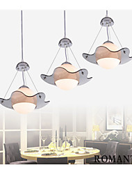 UFO Brushed Steel Finish/White Glass Pandent Light with Three lights