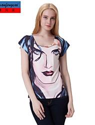 t-shirt d'impression 3d moulante sexy pull tout mach shirt du haut de cmfc®women porter