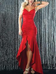 Vestidos y faldas ( Negro/Rojo , Spandex/Poliéster/Satén elástico (tacto seda) , Ropa de Noche ) - Ropa de Noche - para Mujer