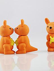adorável canguru dos desenhos animados montar eliminador de borracha (cor aleatória)