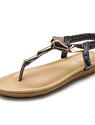 Women's Shoes  Flat Heel Peep Toe/Platform/Comfort/Open Toe Sandals Casual Gray/Gold