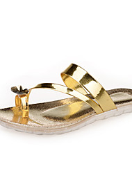 Women's Shoes  Flat Heel Comfort Sandals Party & Evening/Dress/Casual Silver/Gold