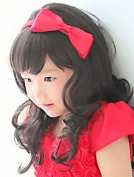 Fashion Explosion Models Cute Black Long Curly Wig Children