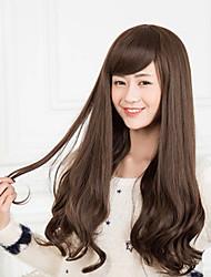Les filles doivent-brun éclatement de la perruque de mode oblique frange