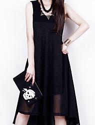 Women's Casual Micro-elastic Sleeveless Knee-length Dress