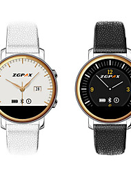 Leather Strap Wearble Bluetooth4.0 Hands-Free Calls Message Control Alarms Smart Watch(Assorted Colors)