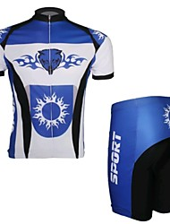 Wolf Blue Short Sleeved Jersey Suit, Moisture Cycling Wear, Motor Function Material