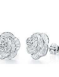Silver world Women's 925 Silver Fashion Crystal Earrings