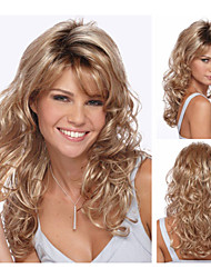 Sexy Synthetic Wigs Long Curly Hair Wig for Women Natural Wigs with Bangs