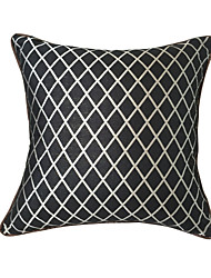 "Creative Super Quality Black/Silver Diamond Pillowcase / Cushion Cover 18""X18"" (45X45CM)"