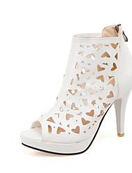 Women's Shoes  Stiletto Heel Peep Toe Sandals Office & Career/Dress Black/Pink/White