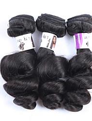 "3Pcs/Lot+10""-30""+Brazilian (Italian) Virgin Hair+ color(natural color)+Loose wave"