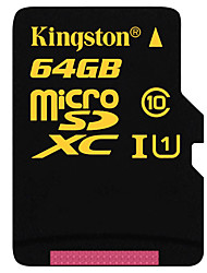 Kingston 64GB Class 10 / UHS-I U1 MicroSD/MicroSDHC/MicroSDXC/TFMax Read Speed90 (MB/S)Max Write Speed45 (MB/S)