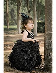 Flower Girl Dress Tea-length Satin/Lycra A-line Sleeveless Dress