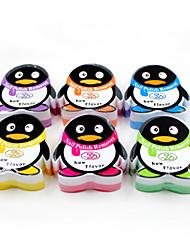 pingouins lavent une serviette (6 couleurs en option)