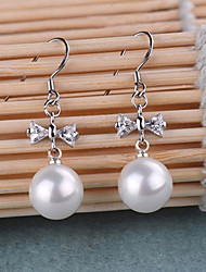 Aimei Women's Silver-plated High Quality Handwork Elegant Earrings