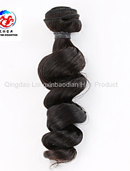 "10"" Loose Wave Natural Color Good Quality Indian Remy Human Hair Weave"
