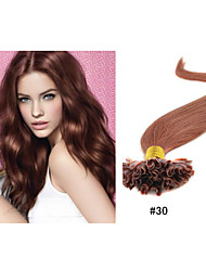 "1pc/lot 1g/Strand Nail-Tip Hair Extension Peruvian Human Hair Extensions 18""-30"" All Colors In Stock"