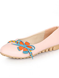 Girls' Shoes Casual Round Toe Fabric/ Flats Blue/Pink/Beige