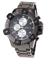 Men's Fashion Design Hard Case Steel Band Quartz Wrist Watch