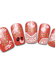 Lovely Lace Rose Cartoon Finger Nail Stickers