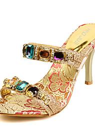 Women's Shoes Synthetic Stiletto Heel Heels Sandals Outdoor/Dress Gold