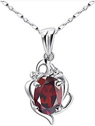 Volcano High-end Natural Garnet Necklace Female, 925 Silver Necklace Wine Red Crystal Sexy SP0538G Clavicle Chain