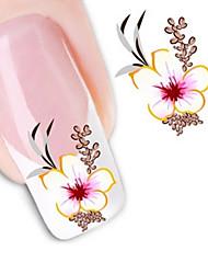 1 Sticker Manucure  Autocollants de transfert de l'eau Autocollants 3D pour ongles Fleur Abstrait Maquillage cosmétique Manucure Design