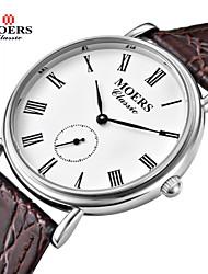 Мужской Нарядные часы Японский кварц Кожа Группа Черный / Коричневый бренд-