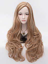 European and American Wind Partial Separately Skin Highlights Three Curly Hair Wigs