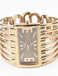 Mulheres Relógio de Moda Bracele Relógio Quartzo Lega Banda Bracelete Elegantes Ouro Rose