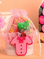 Baby Dress Stick on the Basket Wedding Candy  Favor Bag Set of 12