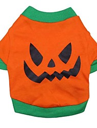 Cool Evil Pumpkin Pattern T-Shirt for Pets Dogs  (Assorted Sizes)