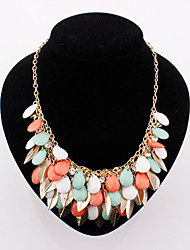 Europe Lady  Leaves Alloy  Statement Necklaces