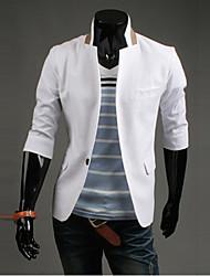 Men's Short Sleeve Regular Blazer , Others Pure