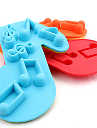 Note Shaped Silicone Baking Molds Ice/ Chocolate/ Cake Mold (Random Color)