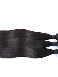 "3Pcs/Lot+8""-34""+Mongolian (Italian)Virgin Hair+ color(natural black)+Straight"