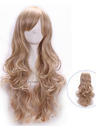 harajuku superiore qualità riccio cosplay sintetica giovane pad a lungo per capelli parrucche elegante parrucchino signora