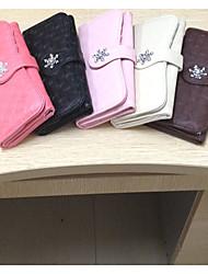 novas mulheres coloridas longo saco de embreagem carteira cabide de bolsa