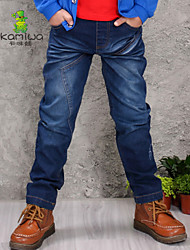 KAMIWA ® Boy's Spring/Fall Washed Cowboy Pants Straight Jeans Long Trousers Children Clothing Baby Kids Clothes(Denim)